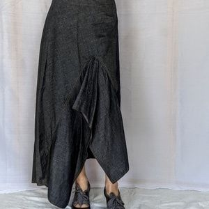 Kenzo Jeans asymmetrical maxi skirt 40